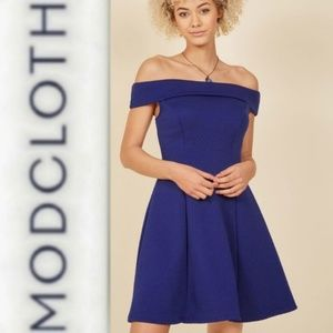 Date Night, Indubitably Mini Dress in Blue